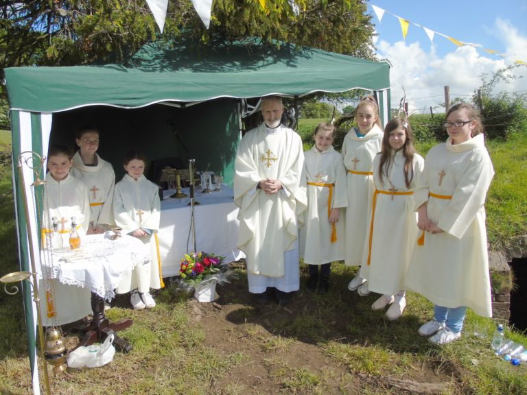 Open air mass on Trinity Sunday