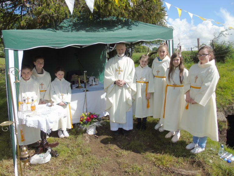 Open air mass on Trinity Sunday